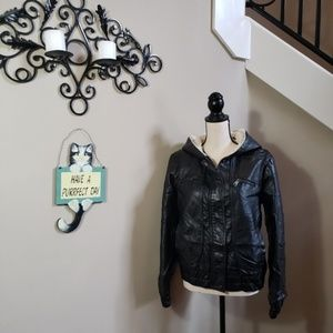 Steve Madden Faux leather/faux fur Jacket